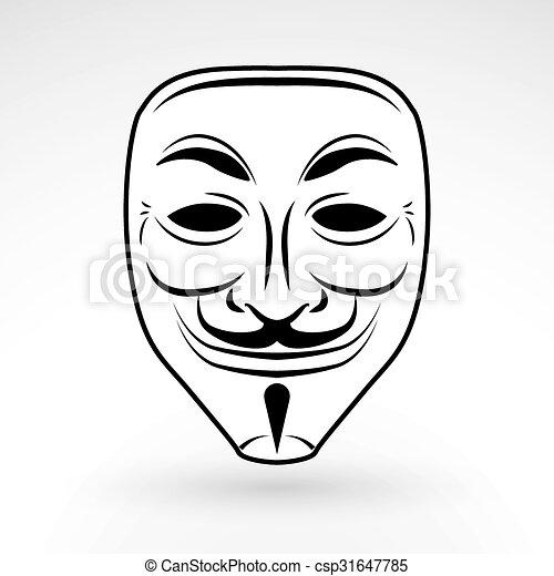 ハッカー Illustration 仮面舞踏会の マスク こっけい者 バック
