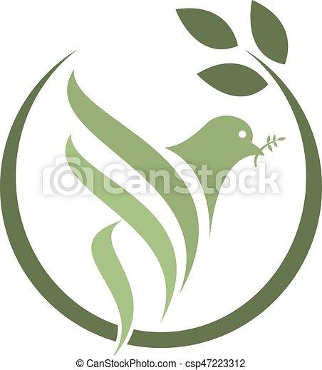 ハト, logo., 隔離された - csp47223312