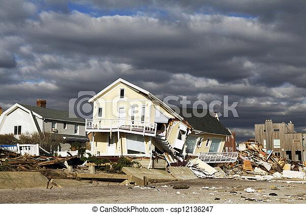 ハリケーン, 砂, 破壊 - csp12136247