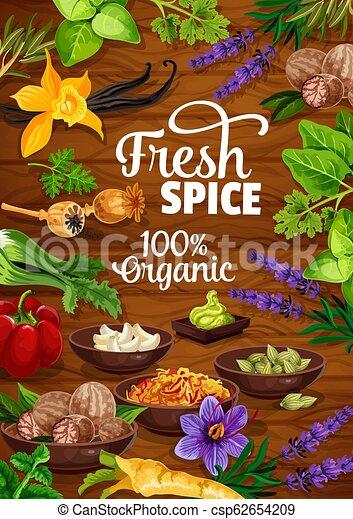 ハーブ, 調味料, 料理, 有機体である, スパイス - csp62654209