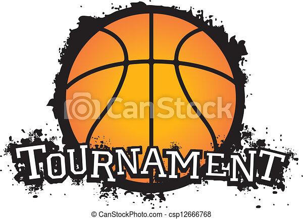 バスケットボール, トーナメント, ベクトル - csp12666768