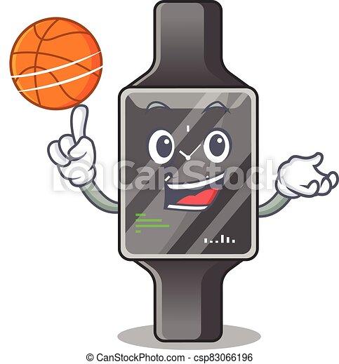 バスケットボール, 漫画, 運動, デザイン, マスコット, 腕時計, 痛みなさい - csp83066196