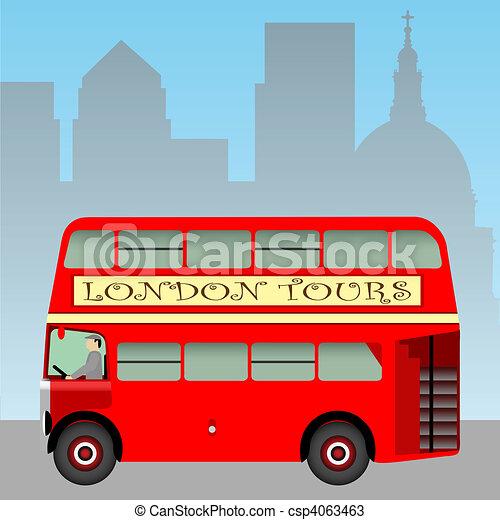 バス, ロンドン - csp4063463