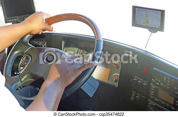 バス, 仕事, 運転手 - csp35474822