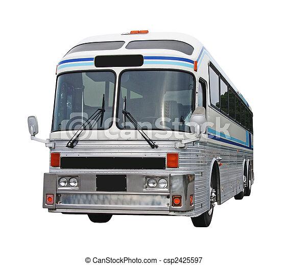 バス, 切り抜き, 古い, 道 - csp2425597