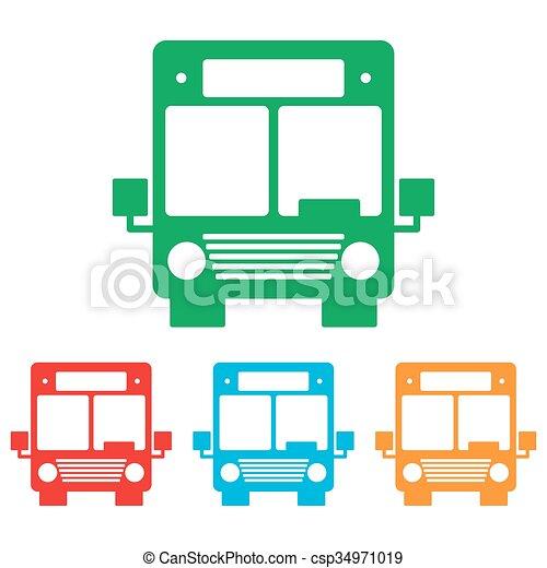 バス, 印。, セット, colorfull - csp34971019