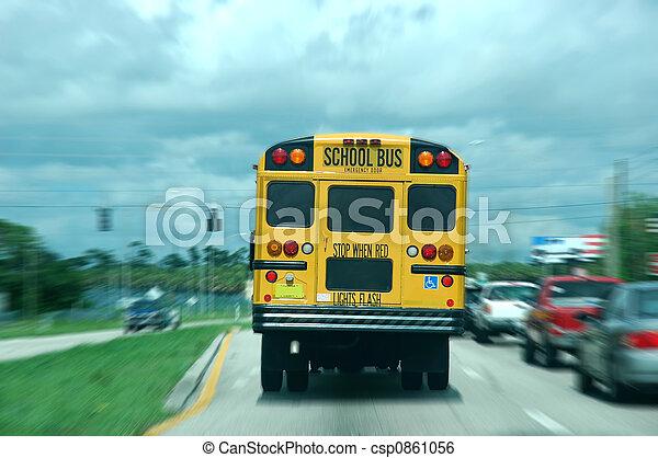 バス, 学校 - csp0861056