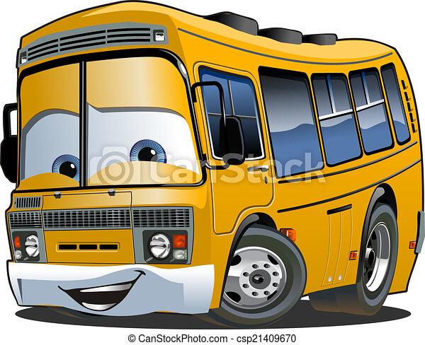 バス, 学校, 漫画 - csp21409670