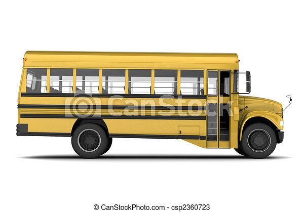 バス, 学校 - csp2360723