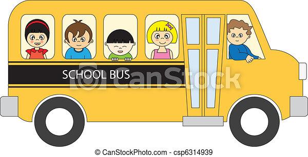 バス, 学校 - csp6314939