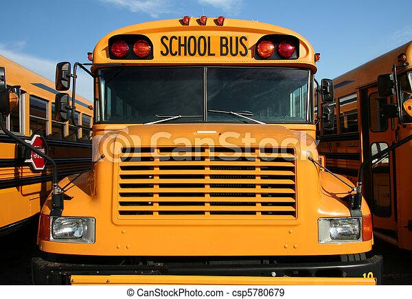 バス, 学校, 黄色 - csp5780679