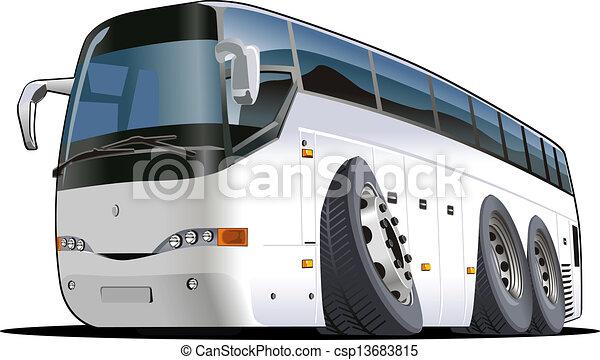 バス, 漫画, 観光客 - csp13683815