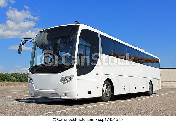 バス, 白, 夏 - csp17454570