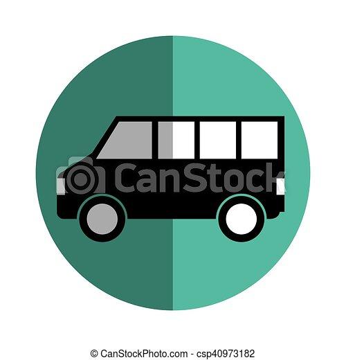 バス 車 シルエット 隔離された アイコン シルエット バス 隔離