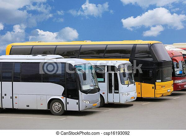 バス, 駐車 - csp16193092