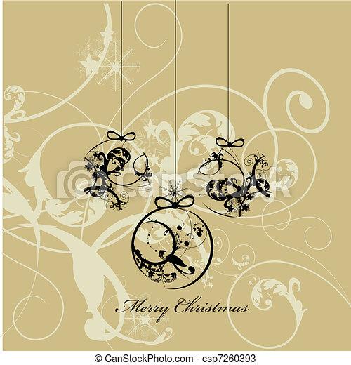 バックグラウンド。, クリスマス - csp7260393