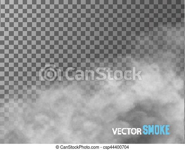 バックグラウンド。, ベクトル, 透明, 煙 - csp44400704