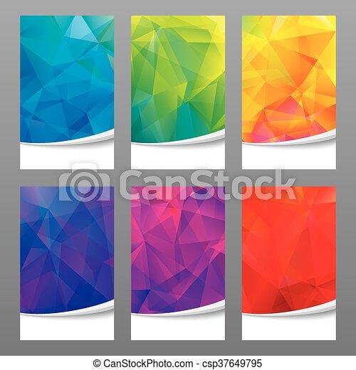 バックグラウンド。, 幾何学的, 色 - csp37649795
