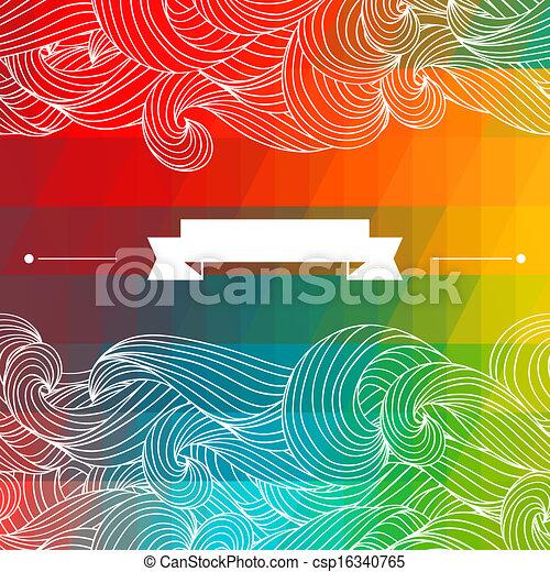 バックグラウンド。, 抽象的, 幾何学的, カード - csp16340765