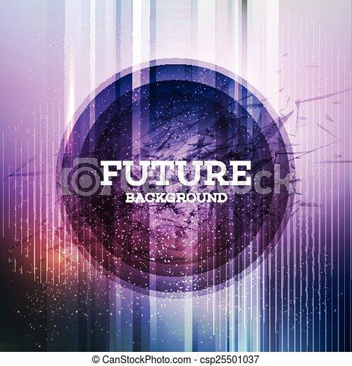 バックグラウンド。, 未来派, 円 - csp25501037