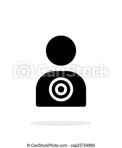 バックグラウンド。, 白, ターゲット, 人間, アイコン - csp23724889