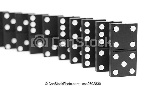 バックグラウンド。, 白, dominoes. - csp9692830