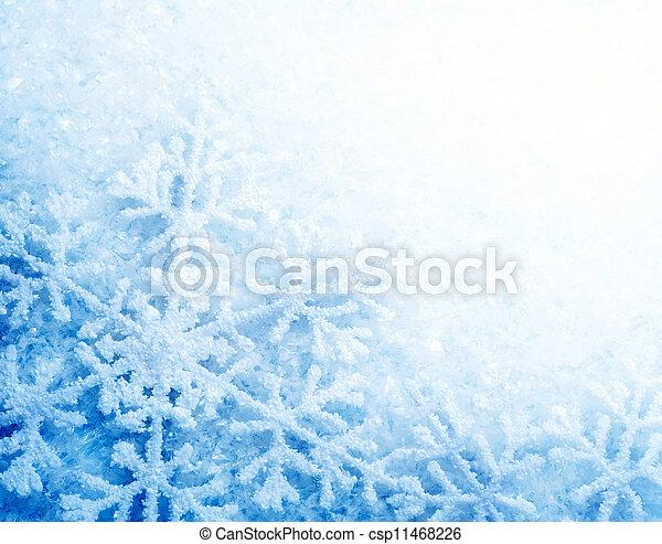 バックグラウンド。, 雪片, 雪, 冬 - csp11468226