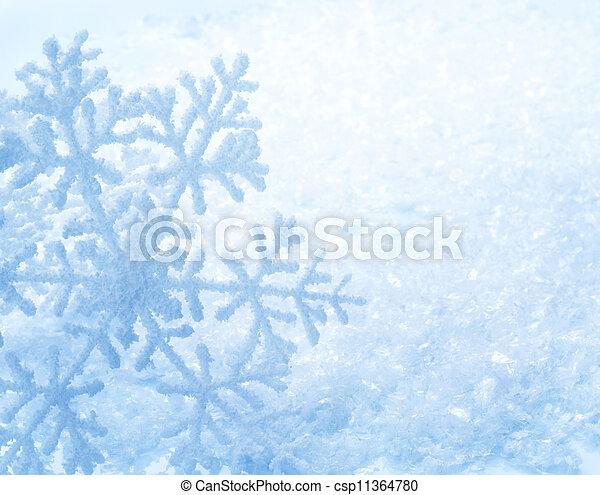 バックグラウンド。, 雪片, 雪, 冬 - csp11364780