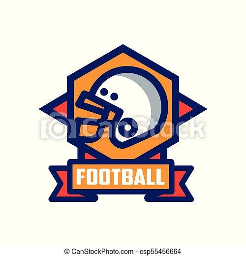 バッジ フットボール 紋章 イラスト アメリカ人 ベクトル 背景