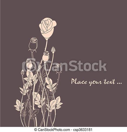 バラ, 抽象的, 花, 背景 - csp3633181