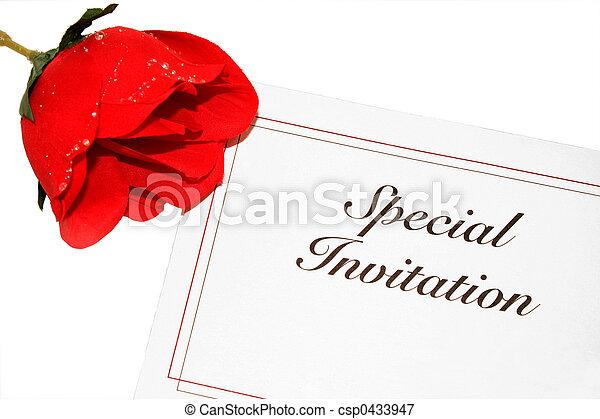 バラ, 招待 - csp0433947