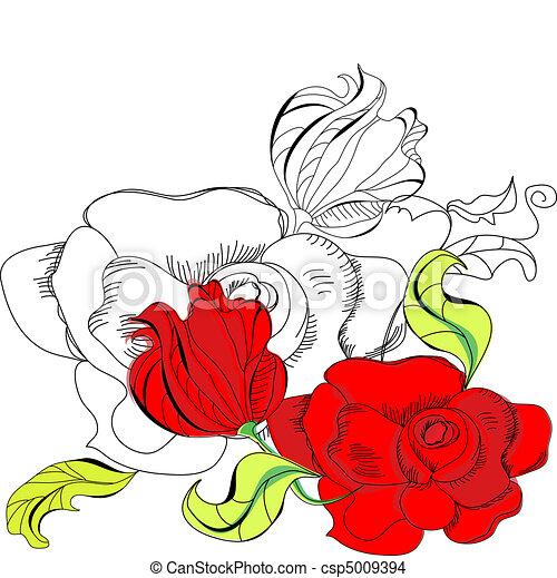 バラ, 赤 - csp5009394