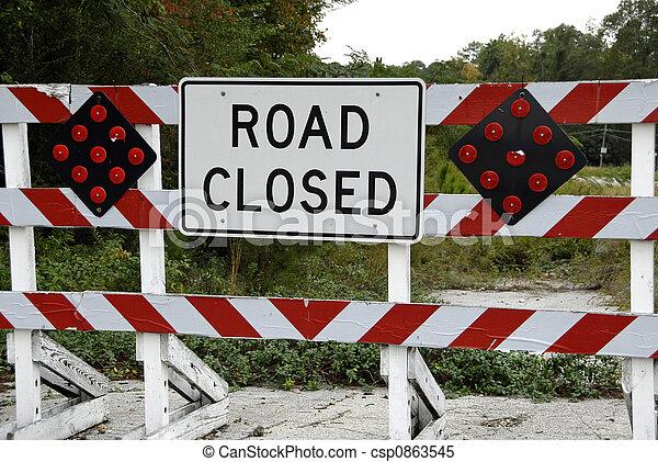 バリケード, 道は 閉まった - csp0863545