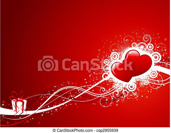 バレンタインデー, 背景 - csp2955939