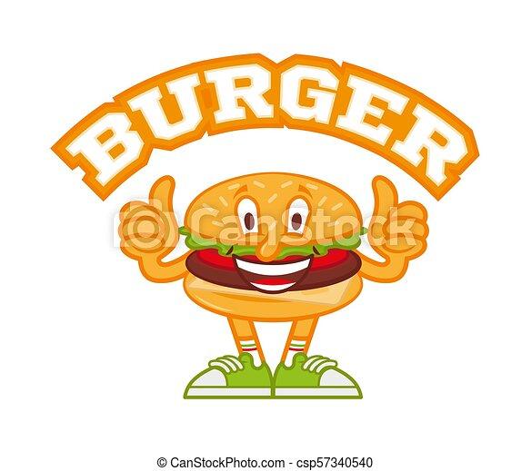 バーガー ロゴ かわいい ハンバーガー ショー 現代 Sneakers