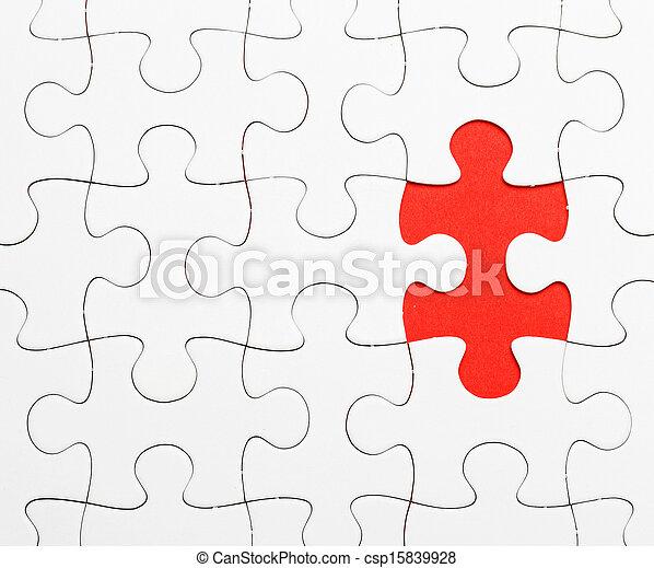 パズル小片, 不完全, 欠けている - csp15839928