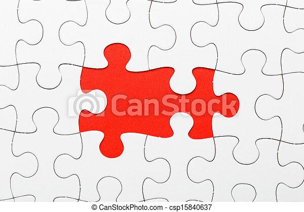 パズル小片, 不完全, 欠けている - csp15840637