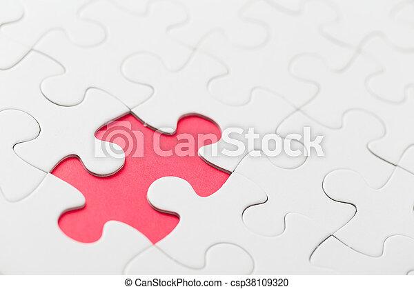 パズル小片, 欠けている - csp38109320