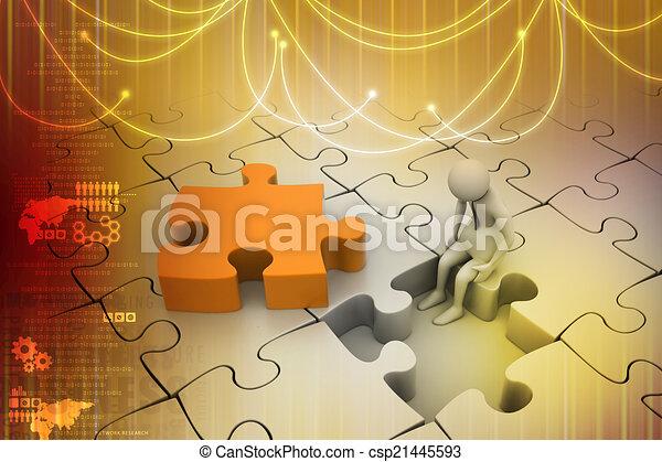 パズル小片, 金融, concept:, 危険 - csp21445593
