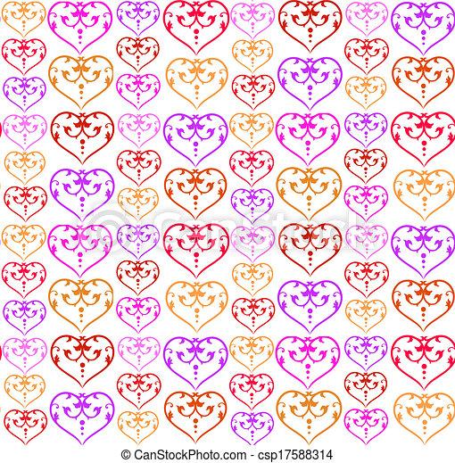 パターン, カラフルである, 心 - csp17588314