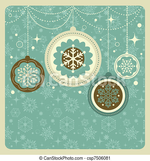 パターン, クリスマス, 背景, レトロ - csp7506081