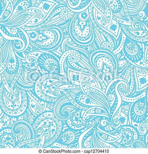 パターン, ペイズリー織 - csp12704410