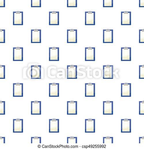 パターン, ペーパー, クリップボード, ブランク - csp49255992