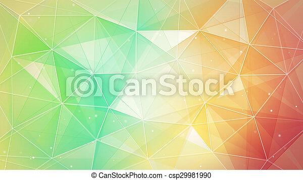パターン, 多色刷り, ライン, 三角形 - csp29981990
