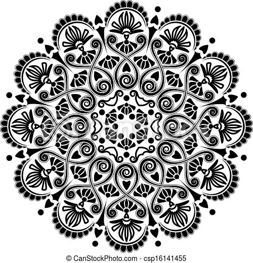 パターン, 幾何学的, 放射状 - csp16141455