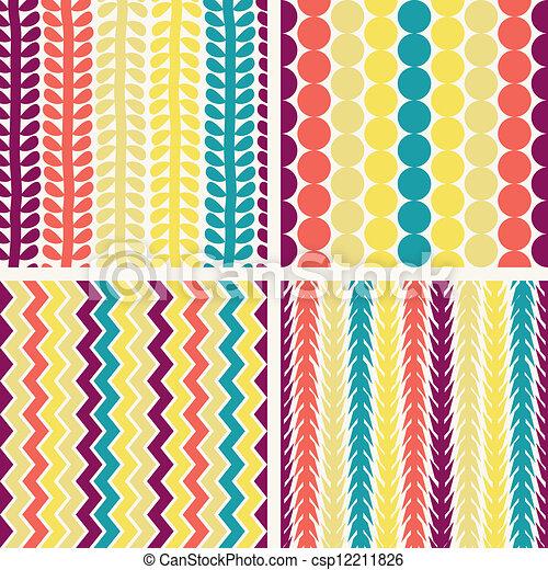 パターン, 幾何学的, seamless, レトロ - csp12211826