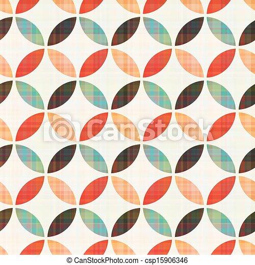 パターン, 幾何学的, seamless, 円 - csp15906346