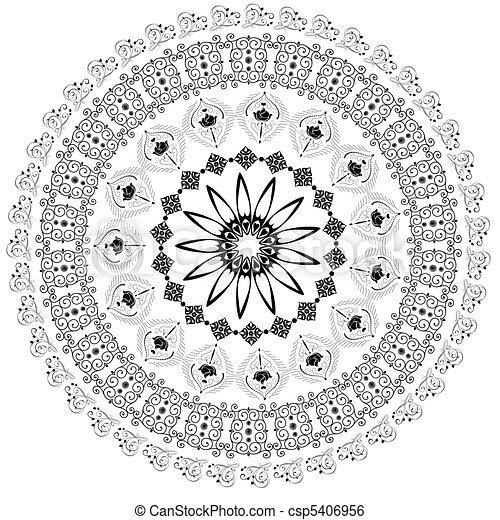 パターン, 抽象的, アラベスク, 円 - csp5406956