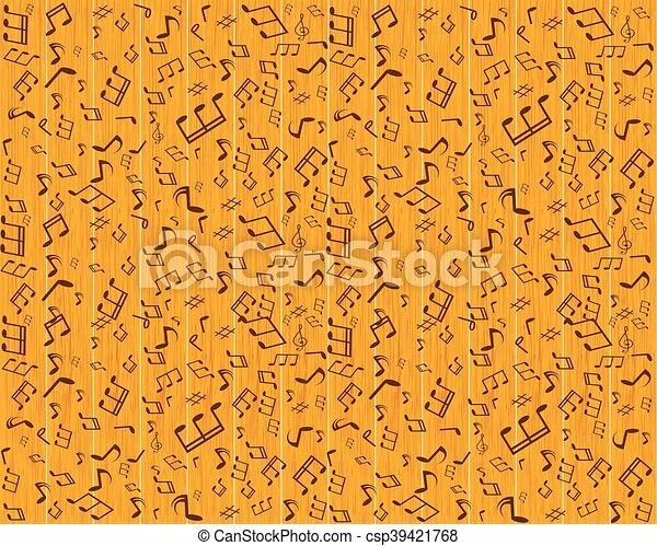 パターン, 抽象的, seamless, イラスト, ベクトル, 音楽, 背景, デザイン, あなたの - csp39421768
