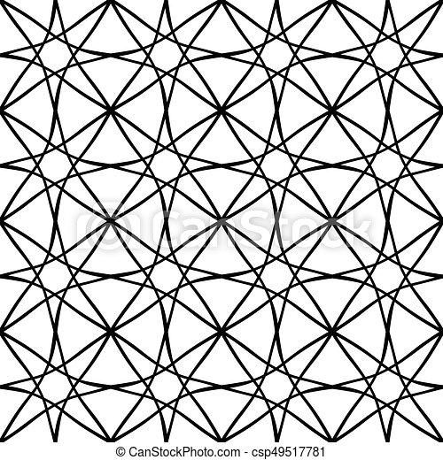 パターン, 格子, seamless - csp49517781